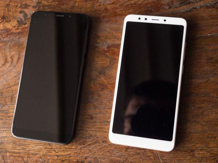 лицевая сторона Xiaomi Redmi 5, Xiaomi Redmi 5 Plus