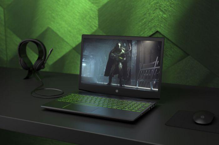 НоутбукHP Pavilion Gaming оснащен  15,6-дюймовым экраном