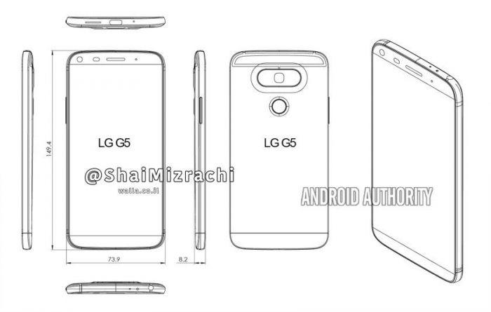 LGG6 без модульного дизайна нарендерах