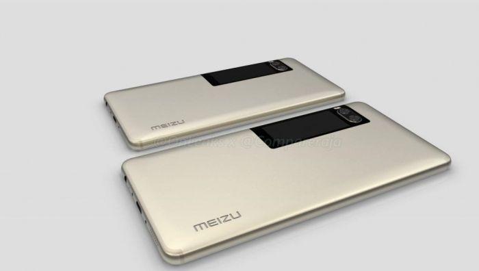 Дополнительный экран телефона Meizu Pro 7 запечатлен навидео