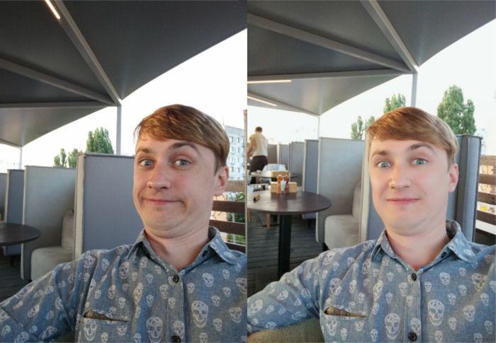 Снимки с фронтальной камеры Huawei Honor 9