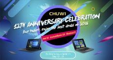 Последние 4 дня распродажи планшетов Chuwi в честь 12-летия компании. Поспешите!