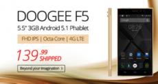 Doogee F5 еще можно успеть приобрести менее чем за $140 в интернет-магазине Everbuying.net