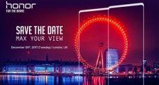 Huawei приглашает на презентацию безрамочного смартфона Honor в Лондон на 5 декабря