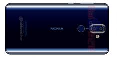 Рендер Nokia 9 в синем цвете