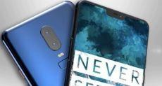 OnePlus 6 с «бровью» на фотографии