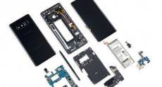 На Samsung Galaxy Note 8 повышенный спрос и по результатам разборки фаблет получит 4 балла за ремонтопригодность