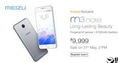 Meizu M3 Note в модификации 3/32 Гб памяти начнет продаваться в Индии 31 мая по $150
