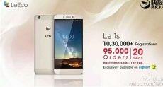 Вторая волна продаж LeEco (LeTV) Le 1S в Индии разошлась тиражом 95 000 единиц всего за 20 секунд