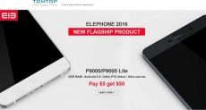 Elephone P9000/P9000 Lite, M3 и W2 – самые свежие новинки в интернет-магазине Tomtop.com