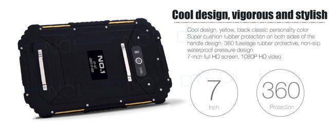 No.1 X5: защищенный 7-дюймовый планшет с поддержкой 4G LTE – фото 1