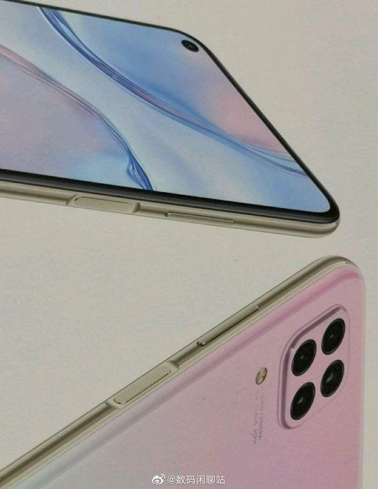 Huawei Nova 6 SE позирует на рендере: боковой сканер отпечатков пальцев и квадрокамера – фото 1