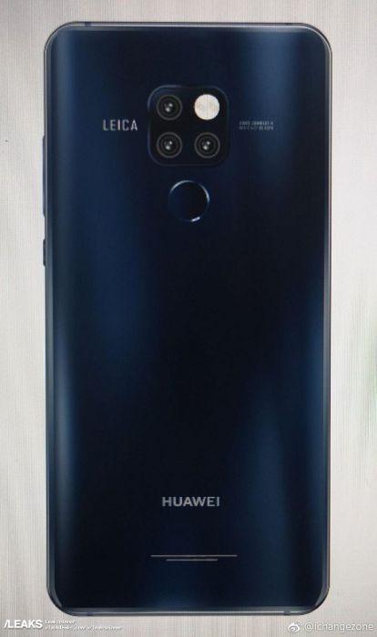 Huawei Mate 20 и Mate 20 Pro с тройными камерами рендер
