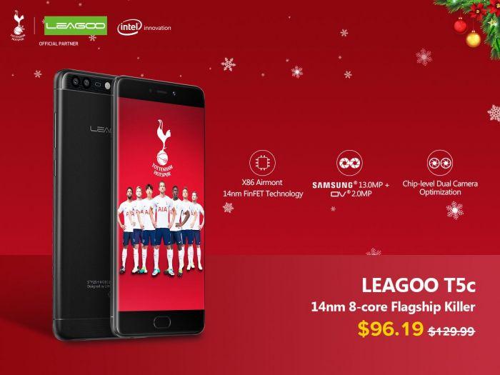 Предновогодняя распродажа Leagoo T5c со скидкой $35 – фото 1