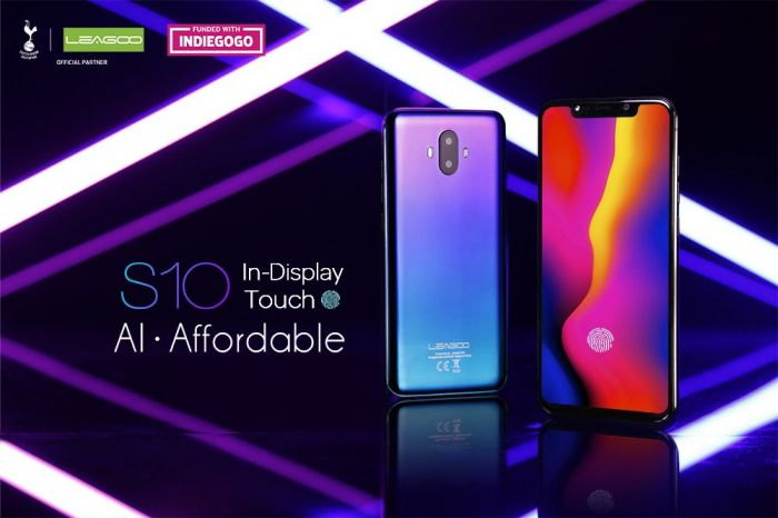 Leagoo S10 претендует на звание самого доступного смартфона с дисплейным сканером отпечатков пальцев – фото 1