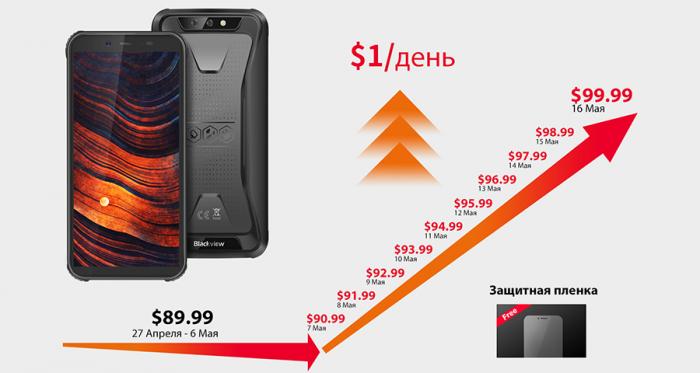Улучшенный защищенный смартфон Blackview BV5500 Pro всего за $89.99 – фото 1