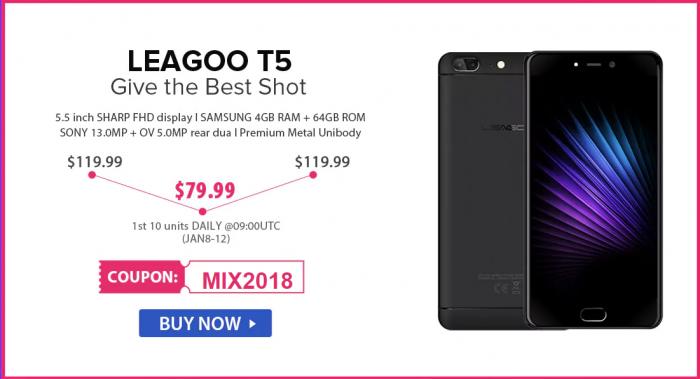 Скидки до 50% на смартфоны Leagoo в магазине Gearbest – фото 3