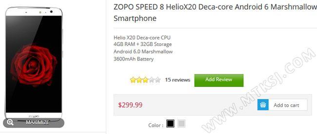 Zopo Speed 8 с процессором Helio X20 доступен к заказу на официальном сайте по цене $299,99 – фото 2