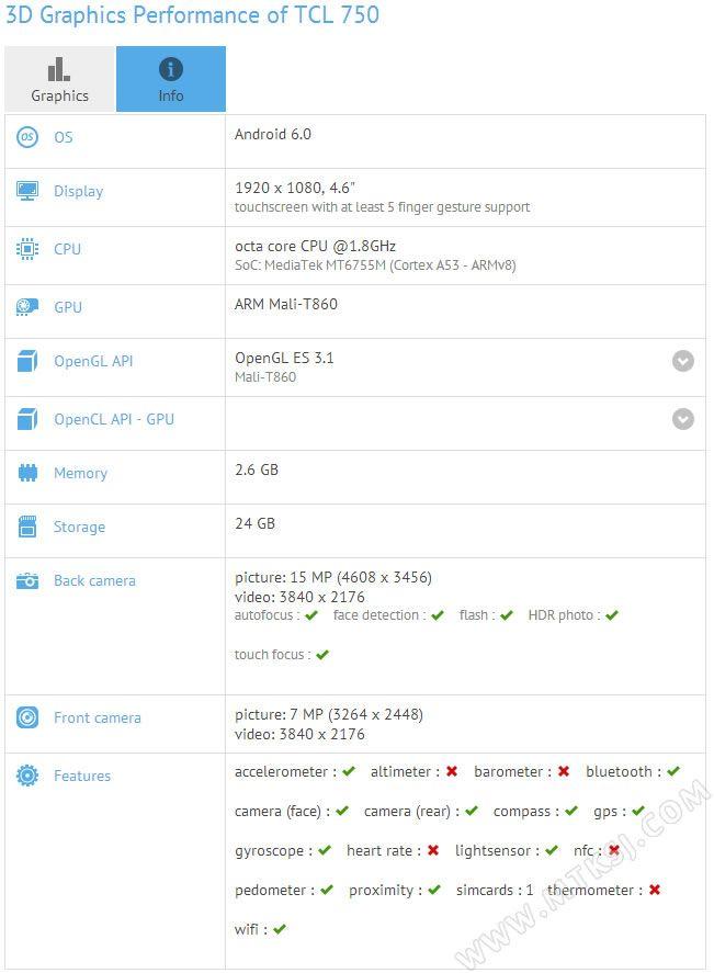 TCL 750 – новый флагман компании с процессором Helio P10 и 5,2-дюймовым FullHD дисплеем – фото 3