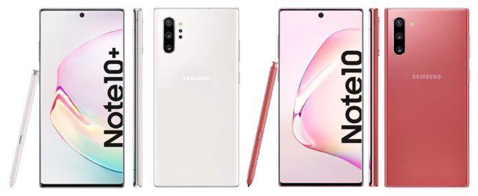 Рендеры Samsung Galaxy Note 10 и Galaxy Note 10+ в розовом цвете
