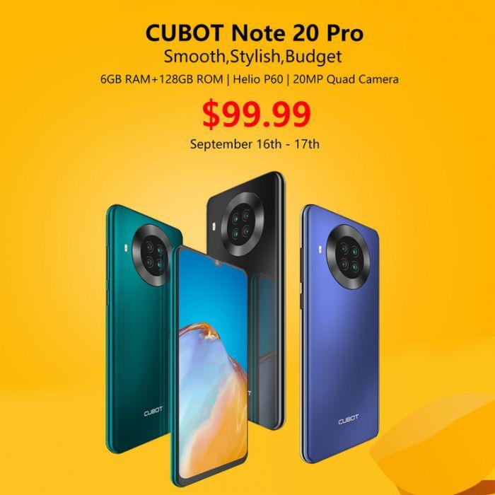 Cubot Note 20 Pro с NFC, «чистым» Android и четверной камерой доступен всего за $99,99 – фото 2