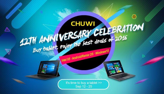 Последние 4 дня распродажи планшетов Chuwi в честь 12-летия компании. Поспешите! – фото 1