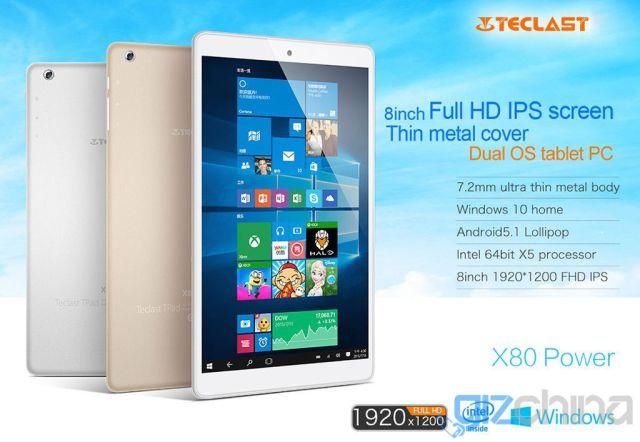 Teclast X80 Power в цельнометаллическом корпусе стал еще тоньше, но это не поможет ему конкурировать с Xiaomi Mi Pad 2 – фото 1