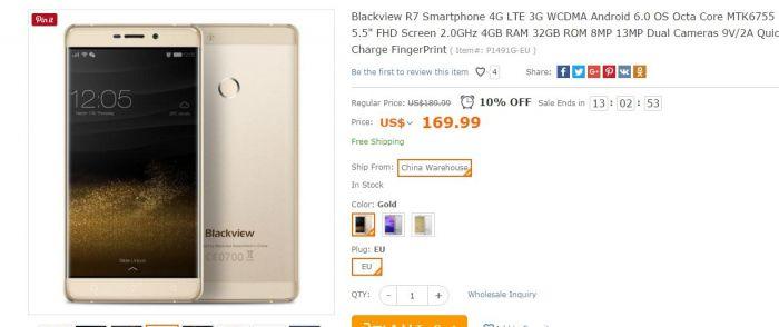 Предзаказ Blackview R7 с процессором Helio P10 и 4 Гб ОЗУ в магазине TomTop.com по цене $169,99 – фото 1