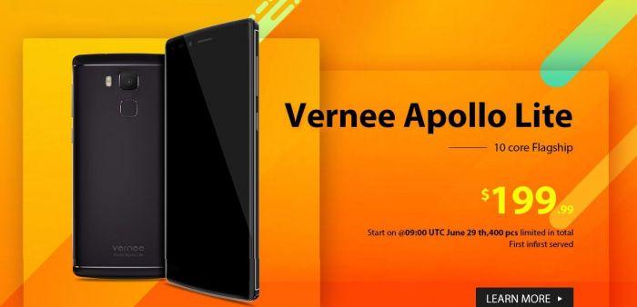 Vernee Apollo Lite с процессором Helio X20 и 4 Гб ОЗУ в магазине Gearbest.com за $199,99 – фото 1