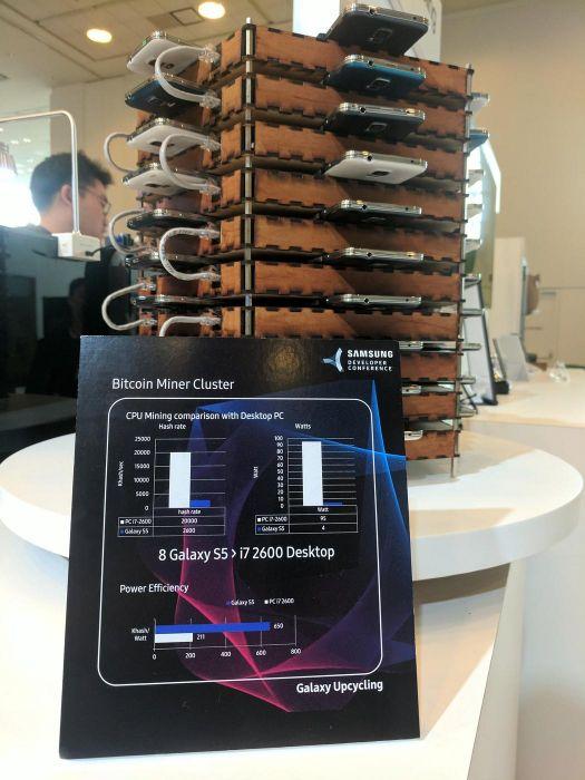Samsung создала установку из Galaxy S5 для майнинга криптовалюты – фото 2