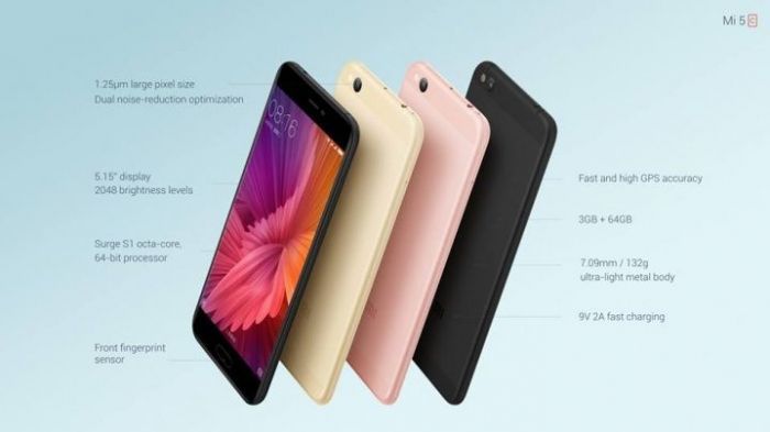 Xiaomi Mi5c получил чип Surge S1, 3/64 Гб памяти и 12 Мп камеру – фото 5