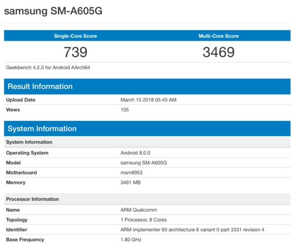 Samsung Galaxy A6 и Galaxy A6+ замечены в бенчмарке – фото 2