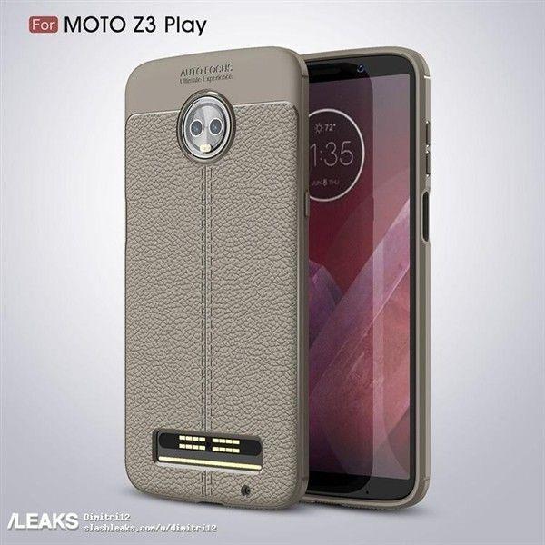 Чехол демонстрирует дизайн Moto Z3 Play – фото 1