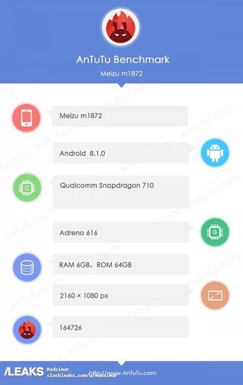 Характеристики Meizu 16X из бенчмарка AnTuTu – фото 2