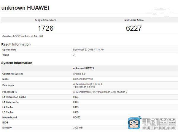 Huawei Honor 7X или P9 показал свою производительность в GeekBench – фото 1