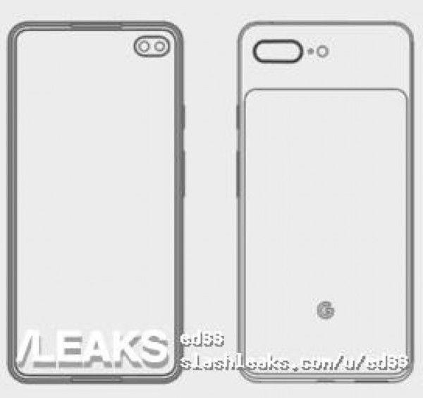 Эскиз Google Pixel 4 XL: дизайн в духе Samsung Galaxy S10+ – фото 1