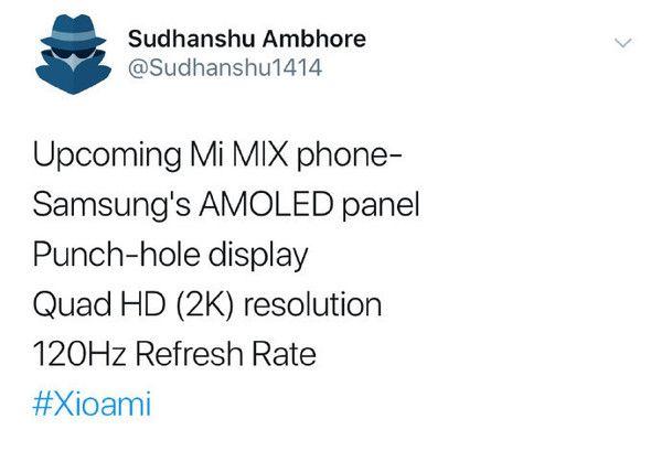 Следующий Xiaomi Mi MIX получит дисплей с отверстием под фронталку – фото 1