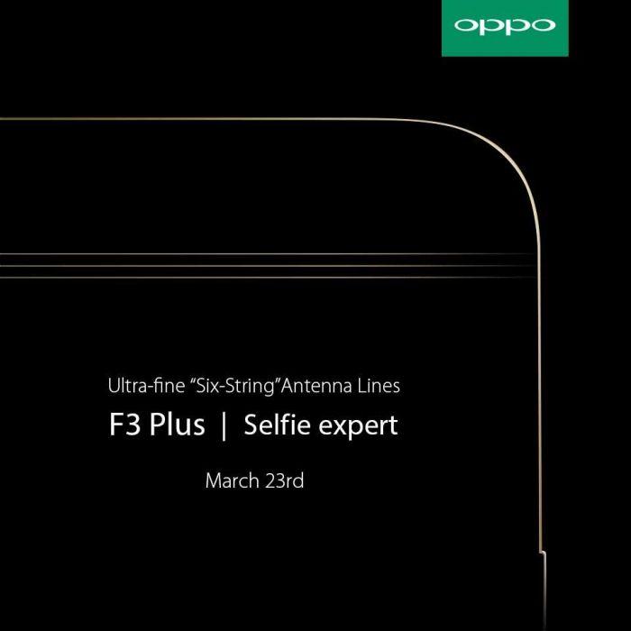 Oppo F3 Plus: тизеры раскрыли ряд особенностей смартфона – фото 1