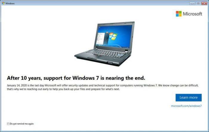Пользователи Windows 7 начали получать полноэкранное уведомление об окончании поддержки – фото 1