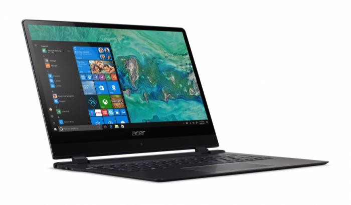 Самый тонкий ноутбук в мире – обновленный ACER Swift 7 на выставке CES 2018 – фото 1