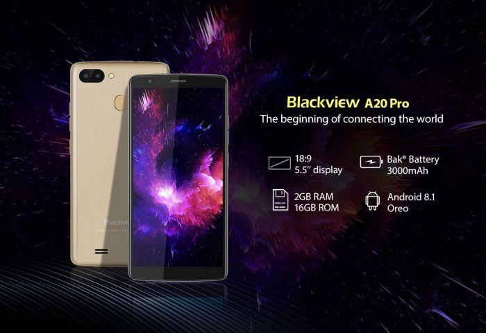 Вышел бюджетный Blackview A20 Pro с Android 8.1 Oreo – фото 1