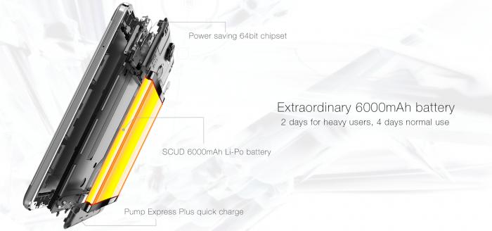 Oukitel K6000 Pro с процессором МТ6753 памятью 3+32 Гб и сканером отпечатков пальцев представлен официально – фото 4