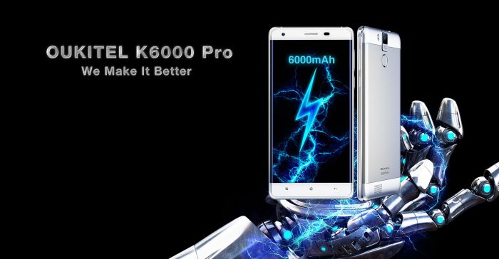 Oukitel K6000 Pro с процессором МТ6753 памятью 3+32 Гб и сканером отпечатков пальцев представлен официально – фото 1