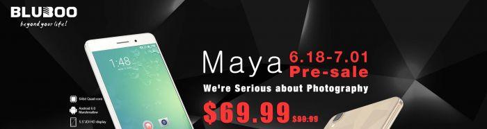 Предзаказ Bluboo Maya в магазине TomTop.com по $69,99 и еще 5 штук ежедневно по $9,99 – фото 1