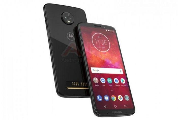 Новое изображение Moto Z3 Play: двойная камера, стеклянный корпус и сканер отпечатков пальцев на боку – фото 1