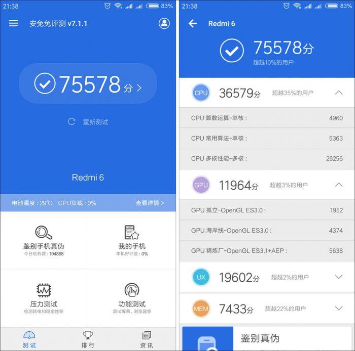 Итоги прогонки Xiaomi Redmi 6 в AnTuTu – фото 2