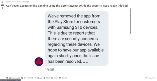 Банки ввели санкции против Samsung Galaxy S10 из-за проблем со сканером отпечатков пальцев – фото 2
