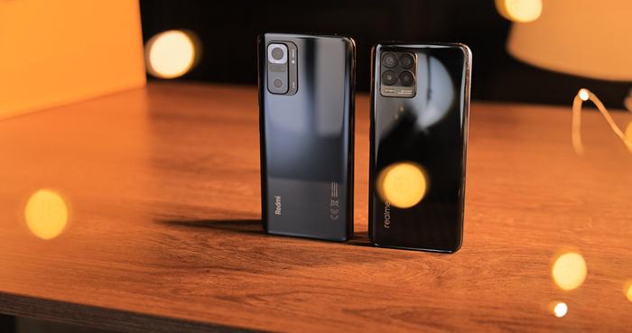 Realme 8 и Redmi Note 10S