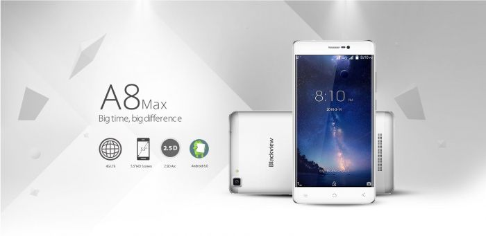Blackview A8 Max – новый бюджетник с МТ6737 и Android 6.0 за $79,99 – фото 1