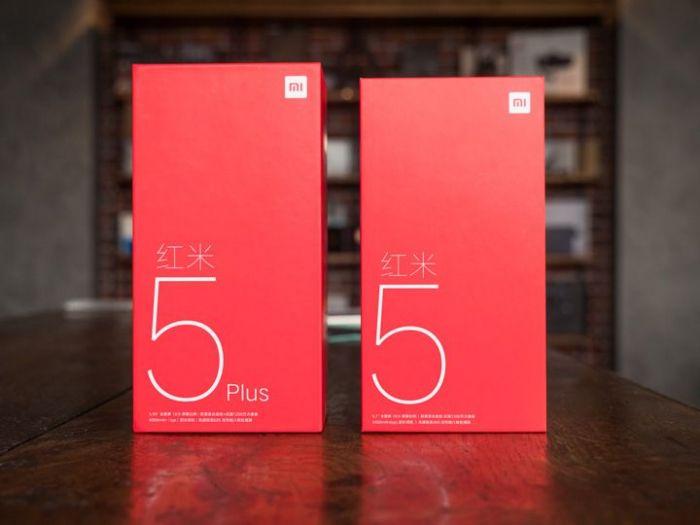 коробка Xiaomi Redmi 5, Xiaomi Redmi 5 Plus
